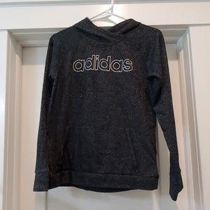 Thumb holes Adidas sparkle hoodie size 14/15